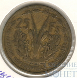 25 франков, 1956 г., Французская Западная Африка