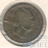 25 центов, серебро, 1849 г., Нидерланды