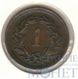 "1 раппен, 1930 г., Швейцария ""В"""