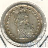 1/2 франка, серебро, 1963 г., Швейцария
