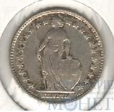 1/2 франка, серебро, 1907 г., Швейцария