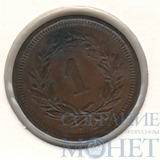 "1 раппен, 1883 г., Швейцария ""В"""