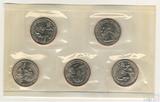 Набор квотеров (25 центов) США, 2001 г., монетный двор Р