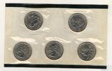 Набор квотеров (25 центов) США, 2000 г., монетный двор D