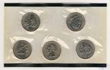 Набор квотеров (25 центов) США, 2001 г., монетный двор D