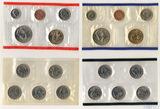 Годовой набор монет США, 2003 г., монетный двор D, Р, Набор квотеров (25 центов) США, 2003  г., монетный двор D, Р