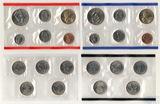 Годовой набор монет США, 2004 г., монетный двор D, Р, Набор квотеров (25 центов) США, 2004  г., монетный двор D, Р