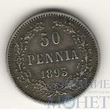 Монета для Финляндии: 50 пенни, серебро, 1893 г.