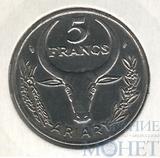 5 франков, 1989 г., Мадагаскар
