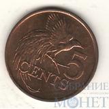 5 центов, 2007 г., Тринидад и Тобаго