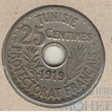 25 сентим, 1919 г., Тунис