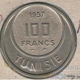 100 франков, 1957 г., Тунис
