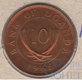 10 центов, 1968 г., Уганда