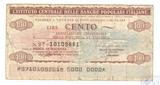 Банковский чек, L`ISTITUTO CENTRALE DELLE BANCHE, 100 лир, 1976 г., Италия
