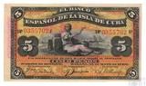 5 песо, 1896 г., Куба