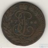 2 копейки, 1766 г., ММ, перечекан