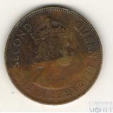 1 пенни, 1958 г., Ямайка