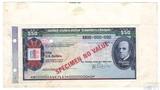 """Дорожный чек, 50 долларов,  Образец США """"Томас Кук"""", Американская Автомобильная Ассоциация"""