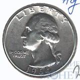 25 центов, серебро, 1964 г., США