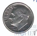 10 центов, серебро, 1964 г., D, США