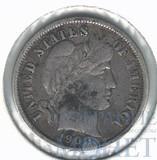 10 центов(1 дайм), серебро, 1900 г., США