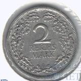 2 марки, серебро, 1926 г., А, Веймарская республика(Германия)