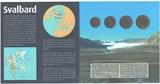 """Набор 4 монеты""""Арктикуголь""""(остров Шпицберген), в буклете, 1993 г."""