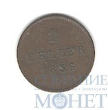1 геллер, 1856 г., Бавария(Германия)
