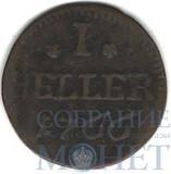 1 геллер, 1766 г., Саксен-Гильбурггаузен(Германия)