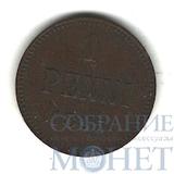 Монета для Финляндии: 1 пенни, серебро, 1895 г.