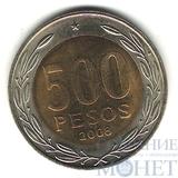 500 песо, 2008 г., Чили