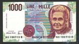 1000 лир, 1990 г., Италия