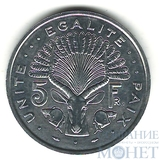 5 франков, 1991 г., Джибути
