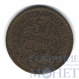 50 сентим, 1921 г., Тунис