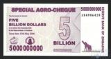5 миллиардов долларов, 2008 г., Зимбабве