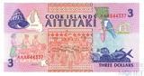 3 доллара, 1992 г., Острова Кука