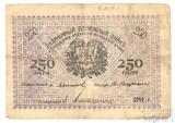 Разменный денежный знак 250 рублей, 1919 г., Асхабадское Отделение Народного Банка