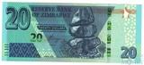 20 долларов, 2019 г., Зимбабве