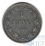Монета для Финляндии: 1 марка, серебро, 1890 г.