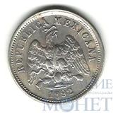 10 сентаво, серебро, 1892 г., Мексика