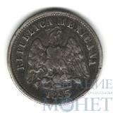 10 сентаво, серебро, 1895 г., Мексика