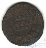 """Деньга, 1731 г.,""""одна черта"""""""