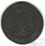 """2 копейки, 1757 г., гурт-""""сетка"""", перечекан"""