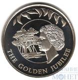 """50 пенсов, 2002 г., Фолкленские острова, """"Золотой юбилей"""""""