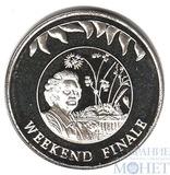"""50 пенсов, 2002 г., Фолкленские острова, """"Салют"""""""