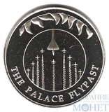 """50 пенсов, 2002 г., Фолкленские острова, """"Воздушный парад над Букингемским дворцом"""""""
