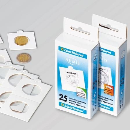 Рамки для монет самоклеящиеся, диаметром до 22.5 мм. Цена за уп. из 25 шт.