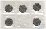 25 центов, 2013 г., Канада, в банковской упаковке, 5 шт.