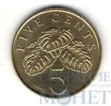 5 центов, 1995 г.,  Сингапур, UNC