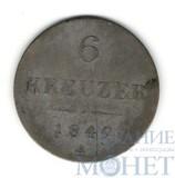 6 крейцеров, серебро, 1849 г., А, Австрия